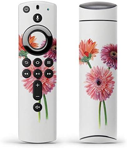 igsticker Fire TV Stick 第2世代 専用 リモコン用 全面 スキンシール フル 背面 側面 正面 ステッカー ケース 保護シール 013498 花 ピンク 植物