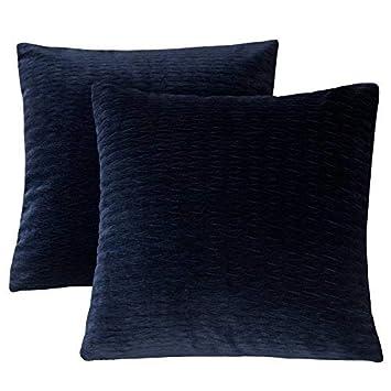 Amazon.com: PHF - Funda de almohada de terciopelo arrugado ...