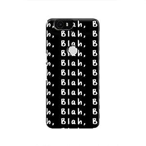 Cover It Up Blah, Blah, Blah Hard Case For Nexus 6P - White & Black