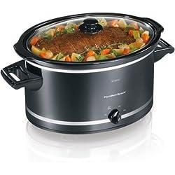 8-Quart Extra-Large Capacity Slow Cooker by Hamilton Beach, 33183, Black