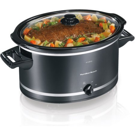 8-Quart Extra-Large Capacity Slow Cooker by Hamilton Beach, 33183, Black