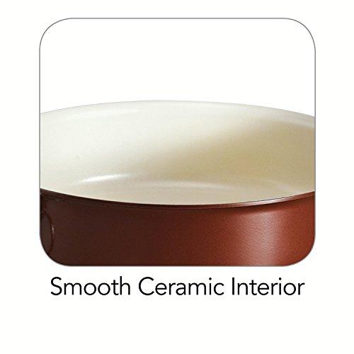Tramontina 80110/052DS Style Ceramica 01 Round Baking Dish, 9.5-Inch, Metallic Copper