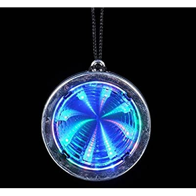 Flashing Panda Lot of 12 LED Flashing Multi-Color Infinity Tunnel Necklaces: Toys & Games