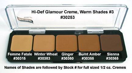Graftobian HD Crème Foundation Palette, Warm ()