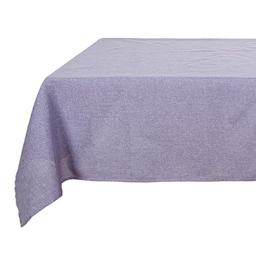 Deconovo Modern Design Oblong Waterproof Table Cover Linen Look Tablecloths Party 54x72 inch Lilac