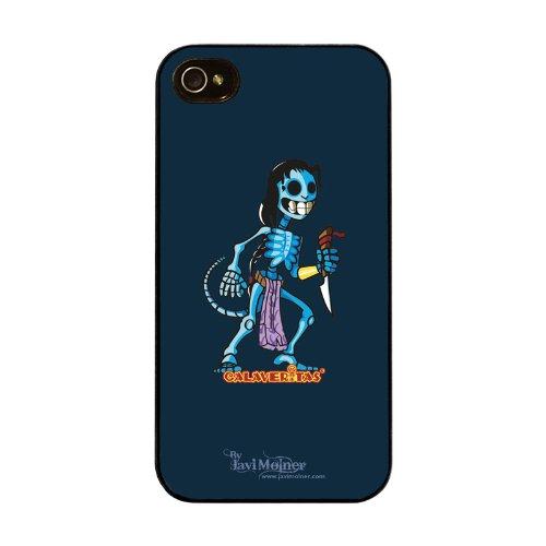 Diabloskinz H0026-0066-0022 Blue Schutzhülle für Apple iPhone 4/4S