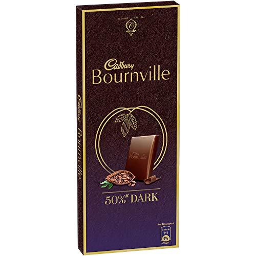 Cadbury Celebrations Rich Dry Fruit Chocolate Gift Box, 177 g & Cadbury Bournville Rich Cocoa Dark Chocolate Bar, 80 gm (Pack of 5) 5