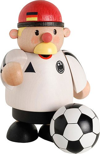 KWO German Incense Smoker German National Team Player - 10cm / 4 inch - Authentic German Erzgebirge Smokers