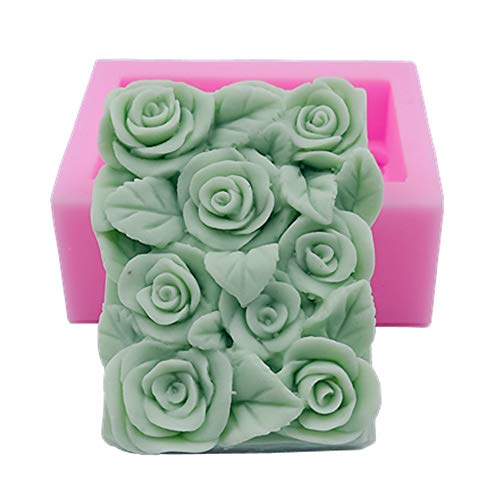 Great Mold Delicate Rose Soap Mold Soap Flower Molds for Soap Making Craft Art Molds DIY Handmade Christmas Cake Chocolate Candy Mold