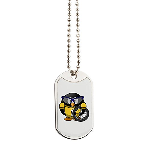 Dog Tags Little Round Penguin - Cyclist in Yellow Jersey