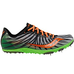 Saucony Men's Carrera XC Cross-Country Shoe,Slime/Vizipro Orange,13 M US