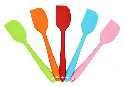 Hecentur Silicone Spatula Heat Resistant Kitchen Spatulas For Cake Cream Pastry Butter Batter Mixing Cooking Baking-Essential Cooking Gadget, Random Color