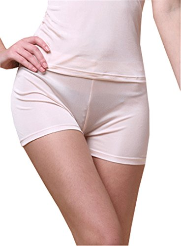 METWAY Women's Boy Shorts Underwear New 100% Mulberry Silk Waist Panties (Large, ()