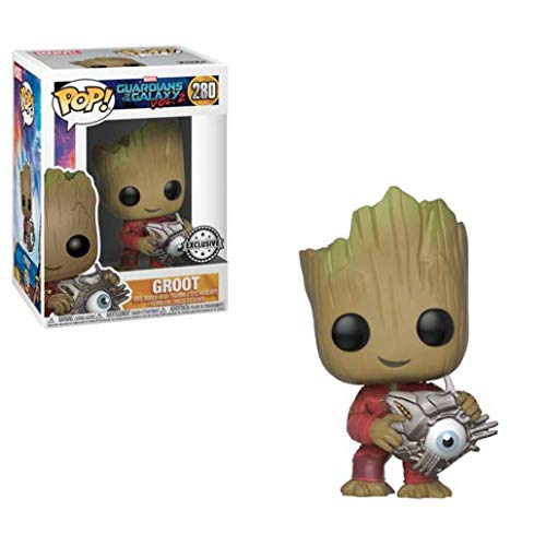 Funko Pop Guardians of the Galaxy: Groot with Cyber Eye Collectible Figure, Multicolor