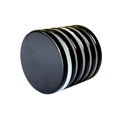 Neodymium Disc Magnets with Epoxy Coating - N52 Grade, 1.26 x 1/8, Super Strong, Powerful Rare Earth Magnets - Bonus: 3M Adhesive Backing (6-10 Pack) (6)