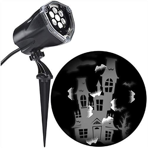 Gemmy LED Projection Lightshow Bat Static Creepy House Whirl Motion Lighting Decor