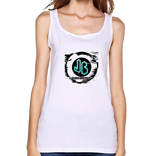 TIANYI Women Jonas Brothers Logo Tank Top T Shirt XL White