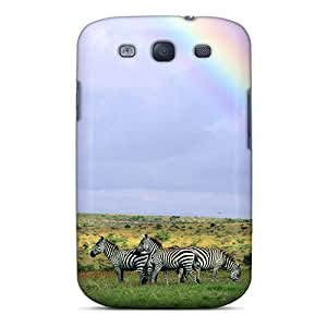 Hot Tpye Rainbow Over Herd Of Zebras In Kenya Case Cover For Galaxy S3