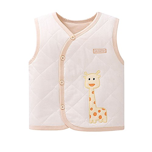 ThreeH Baby Boys Girls Cotton Padded Vest Sleeveless Jacket BR127B by ThreeH