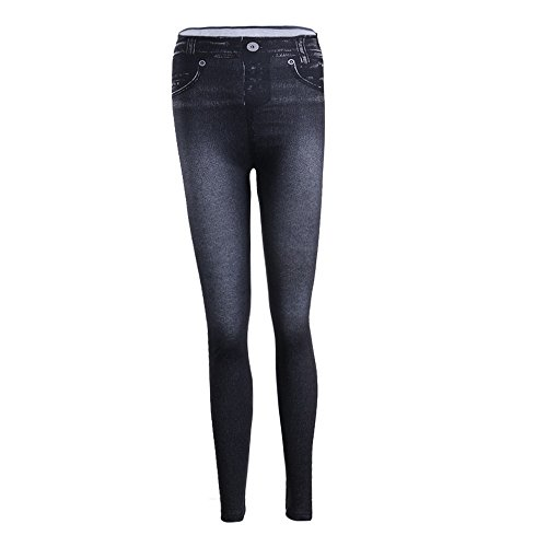 Collant Leggings Pantalons Denim Crayon Noir Sexy Jeans Stretch Femme Taille Haute Extensible Elastique Slim pwSYq6pR