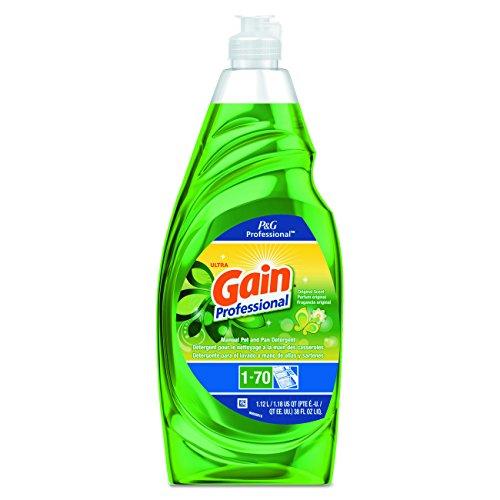 Gain 70740 Professional Manual Pot and Pan Dish Detergent, Original, 38 oz. Bottle Capacity by Gain
