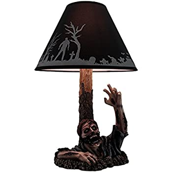 Resin Table Lamps To The Light Dead Rising Zombie Lamp With Black Zombie  Shade 13 X