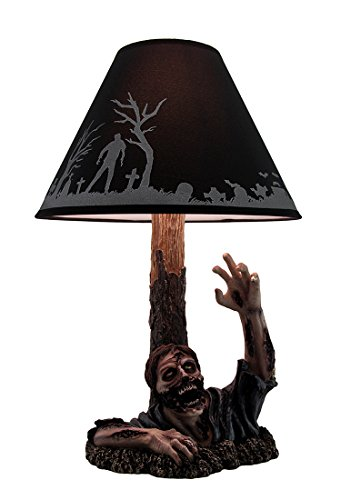 Resin Table Lamps To The Light Dead Rising Zombie Lamp With Black Zombie Shade 13 X 19 X 13 Inches Black