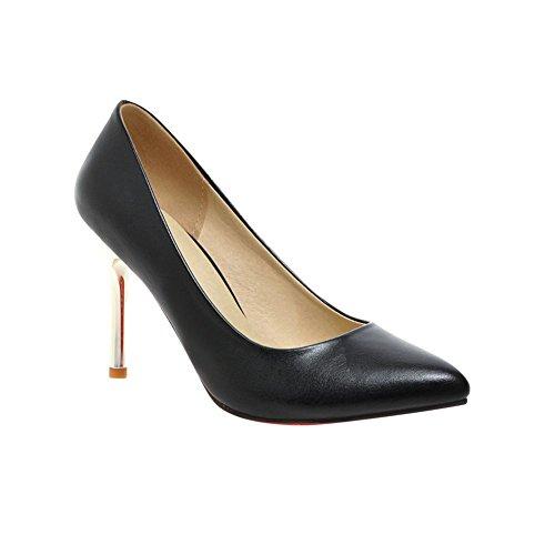 MissSaSa Damen elegant Spitze Pumps mit Stiletto Pointed Toe high-heels Party/Brautschuhe Schwarz