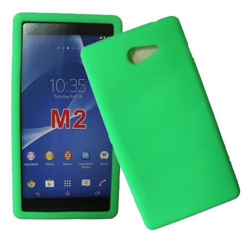 Accessory Master - Carcasa para Sony Xperia M2 (silicona), varios colores, compatible con Sony Xperia M2, color amarillo Multicolor