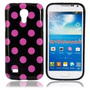 Dots TPU Protection Case for Samsung i9190 Black Bottom Purple Point