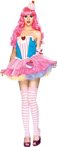 Sugar and Spice Cupcake Adult Costume - (Sugar And Spice Costumes)