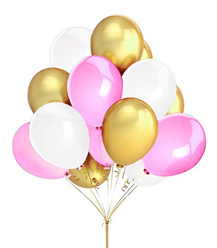 Best balloons gold and pink