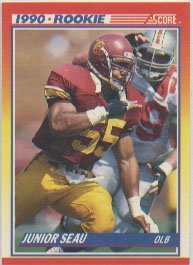 1990-score-junior-seau-rookie-football-card-302-shipped-in-protective-display-case