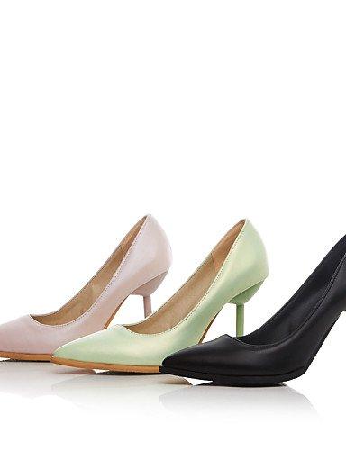 Uk8 Cn43 Zapatos Y Casual Pink 5 Trabajo Puntiagudos tacones tacones Eu42 Rosa Mujer negro pu tac¨®n Zq oficina De 5 us10 Stiletto Hfxzwqw1d
