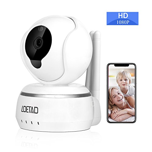 Wireless IP Camera Security WiFi Camera 1080P by LOETAD HD Two-Way Audio with Infrared Night Vision Remote Monitor Compatible with iOS/Android/Windows PC