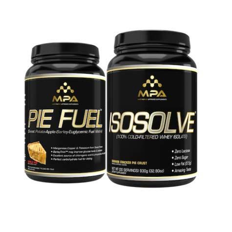 MPA Supplements Isosolve/Pie Fuel Synergistic Muscle Building Stack   Premium Cold Filtered Whey, Bodybuilding Nutrition (1.5lb +1.9lb)