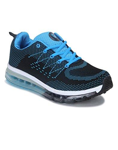 Yepme - Zapatillas de atletismo de Material Sintético para hombre multicolor azul y negro