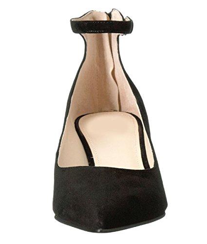 11sunshop Lederpumpenmodell Elok von HGilliane Design IM 33-44 Black