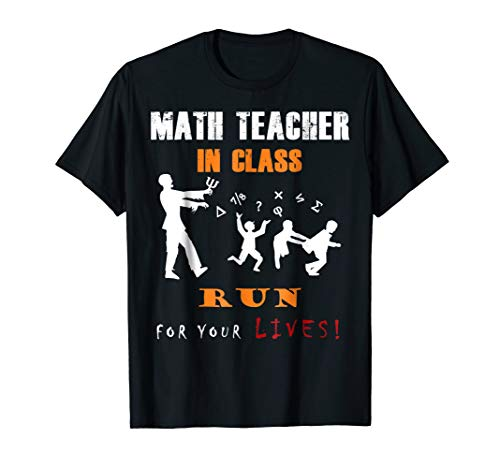 Halloween Math Teacher T-Shirt |Funny Zombie Student