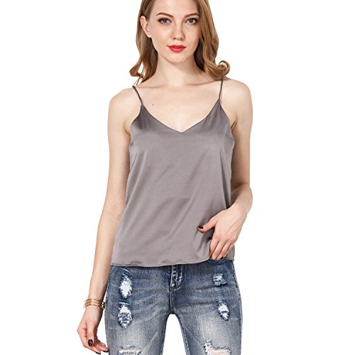 19b133e435a ShyVelvet Women Summer Cami Camisole Halter Top Plus Size Tank Top Sexy V  Neck Crop Top,Grey,Small - Buy Online in Oman.   Apparel Products in Oman -  See ...