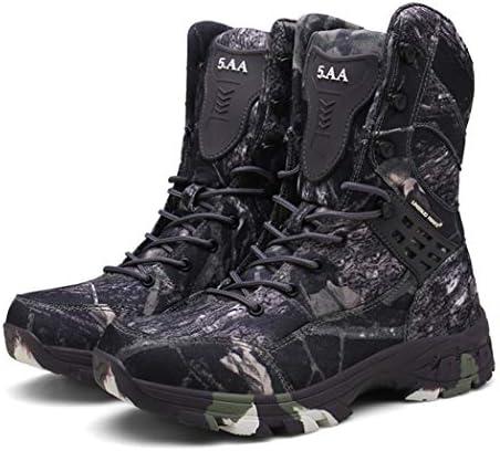 サイドジッパー ハイカットミリタリーブーツ 登山 ハイキングジャングルブーツタクティカルブーツ メンズ 迷彩軍靴 アウトドア ハイキング シューズ 登山 靴 防水 防滑 通気性 耐磨耗 厚い靴底 (24.5~28.5cm)