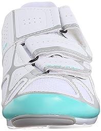 Pearl Izumi Women\'s W Select RD IV Cycling Shoe, White/Aqua Mint, 40 EU/8.3 B US