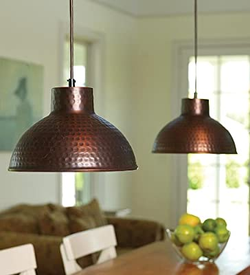 Antique Hammered Pendant Lighting with Adjustable Cord