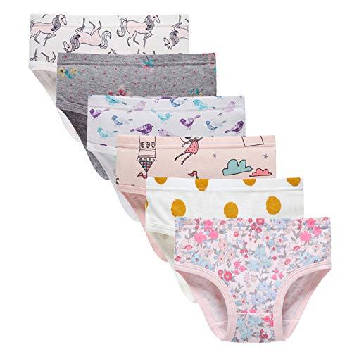 Baby Soft Cotton Panties Little Girls'Briefs Toddler Underwear (Pack of 6) - Soft Underwear Girls