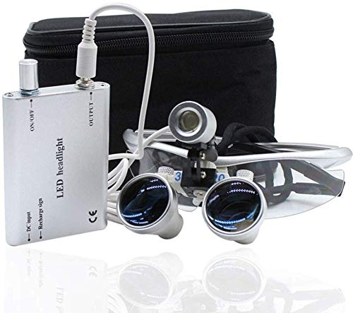 TYZXR Linterna LED Dental 3.5X 420 mm Lupa Binocular ...
