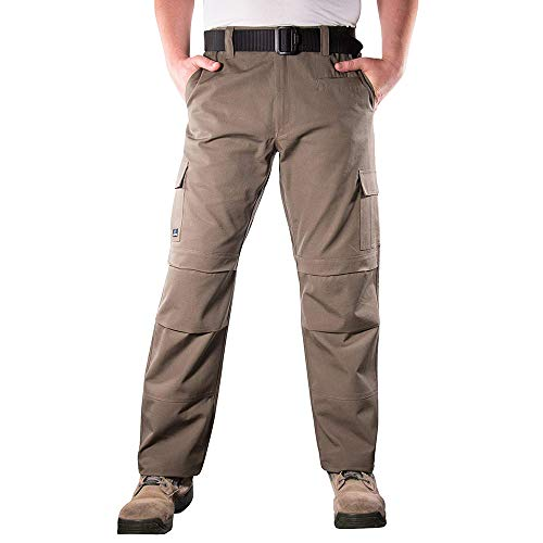 LA Police Gear Urban Recon Cotton Canvas Tactical Cargo Work Pant - Slate Brown - 34 x 30