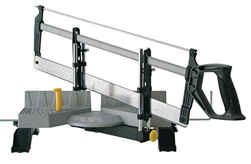 Stanley Gehrungslade aus Metall mit Säge, 560mm Länge, 95mm max. Höhe, 143mm max. Breite, 30°/45°/60°/90°, 1-20-800