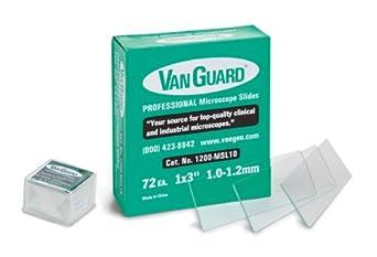 Van Guard 1200-MSL/CS Microscope Slide and Cover Slip, Glass, Box of 72