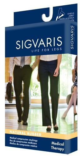 Sigvaris 503NS4077 Natural Rubber 30-40 mmHg Open Toe Unisex Thigh High Sock with Grip-Top Size: S4