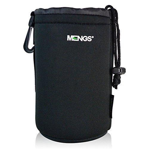 MENGS® Großformatigen (L) High Grade schützenden Neopren Objektivtasche - Haken und Gürtelschlaufe